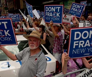 Anti-fracking protest by CREDO